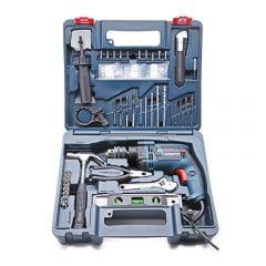 Bộ dụng cụ 100 chi tiết và máy khoan động lực Bosch GSB 13RE